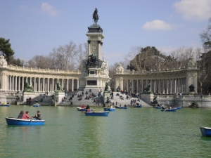 Lake in Retiro Park