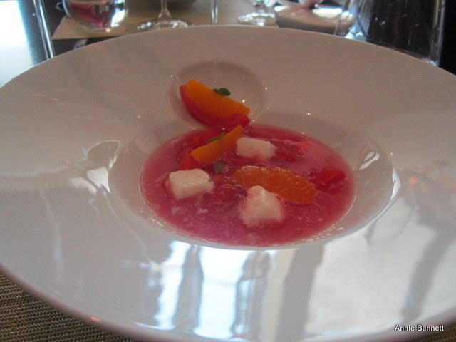 citrus gazpacho at Jumeirah Port Soller