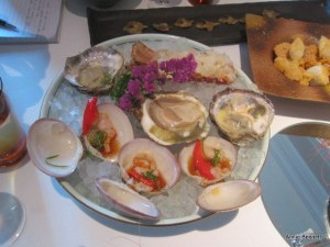 oysters, clams and lobster