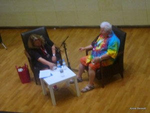 Val McDermid and Tiffany Murray