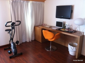 Desk & bike Room 509 Petit Palace Malaga