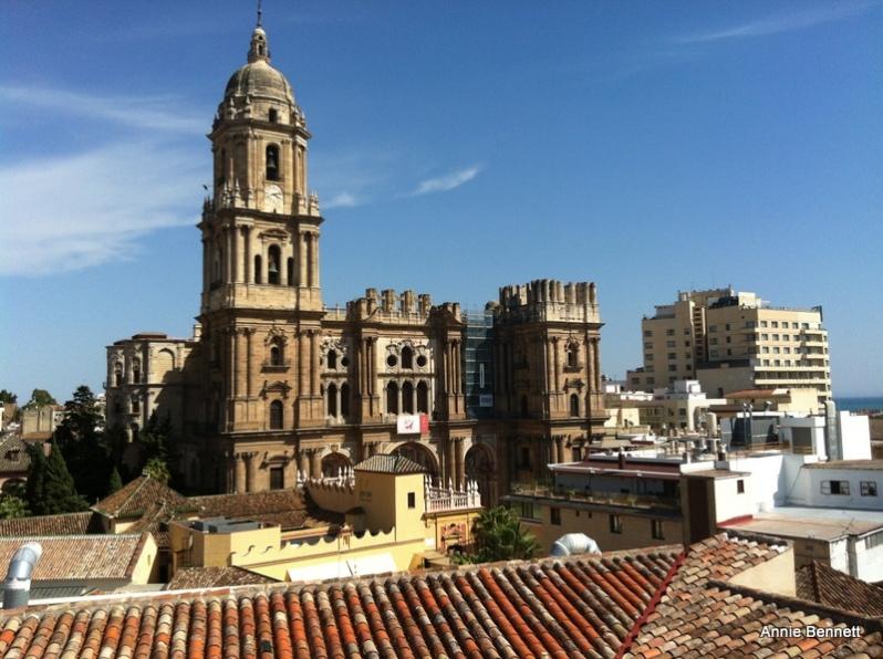 View Malaga cathedral