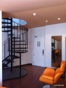 Spiral staircase Room 509 Petit Palace Malaga