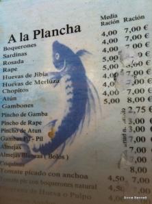 Atarazanas menu