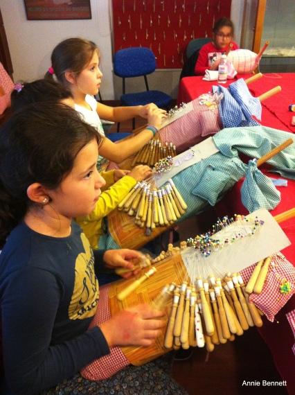 Girls at Camarinas lace museum