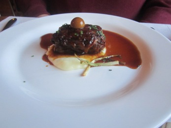 Braised oxtail at The Table By Cenador de Amos Hotel Urso