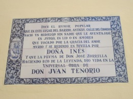 Don Juan plaque