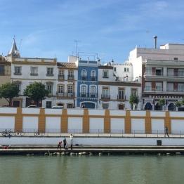 Guadalquivir riverbank & Betis street Seville