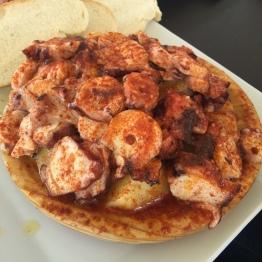 Octopus at Lonja del Barranco gourmet market Seville