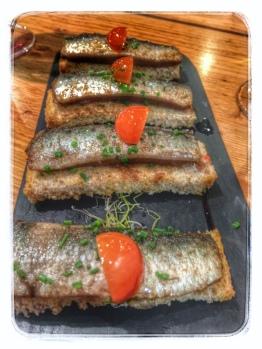 Marinated sardines at La Pepona Seville