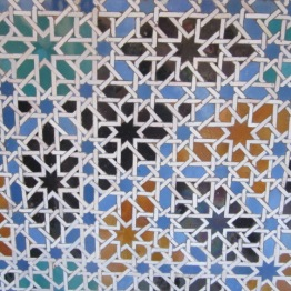 Mosaic tiles at Alcazar Seville