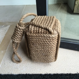 Rope doorstop at Hotel Sant Francesc