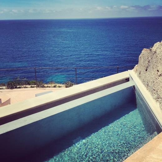 Plunge pool in Sentinel suite at Cap Rocat