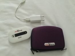 AllDayInternet device, case and charging plug