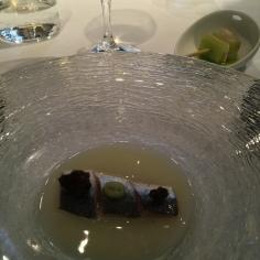 Sardine with yeast and malt at Casa Gerardo