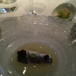 Sardine with yeast and malt at Casa Gerardo