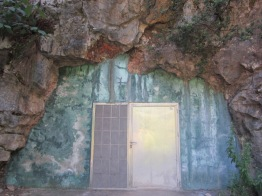 Entrance to cheese cave in Carrena